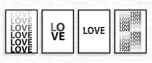 Love happy valentines day poster card, illustration vectorielle de type de police.