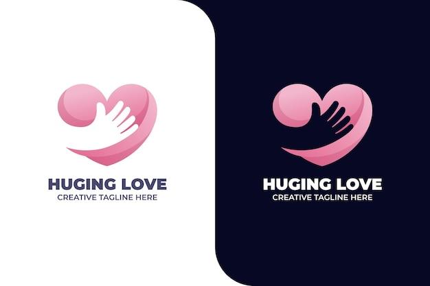 Love hug charity amitié dégradé logo