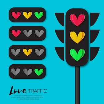 Love lights. feux de circulation