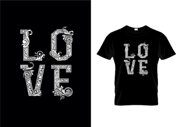 Love typography design t-shirt
