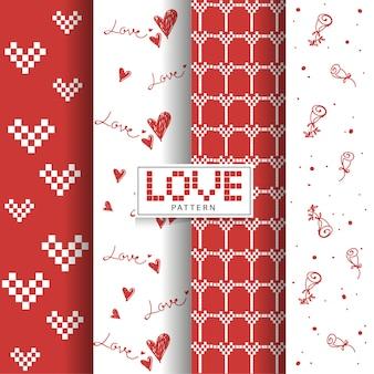 Love valentine pattern