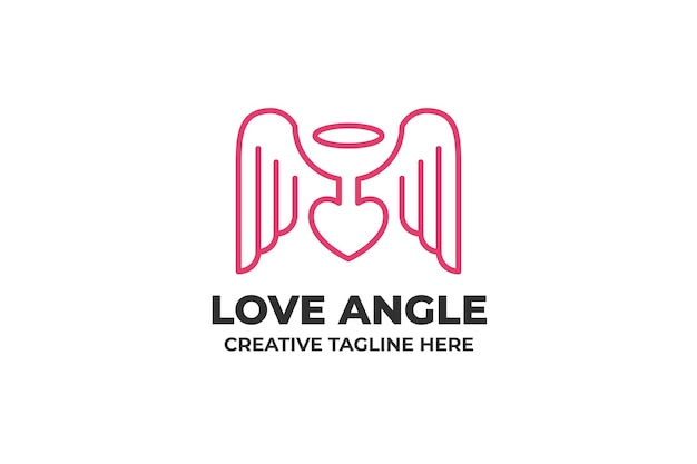 Love wing angel logo minimaliste