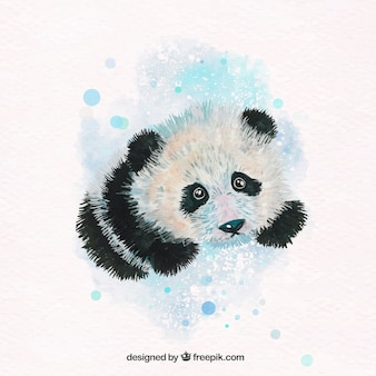 Lovely panda aquarelle