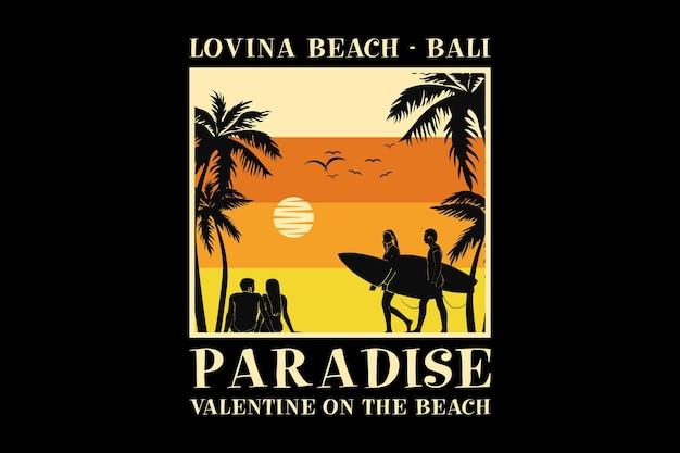 .loving beach bali, design style rétro glauque