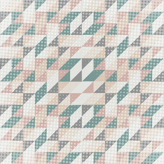 Low poly abstrait aux couleurs scandinaves
