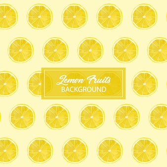 Lowpoly de fruits citron sans soudure de fond