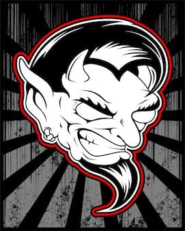 Lucifer, diabolique, dessin vectoriel de démon satanique
