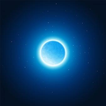 Lueur cosmique du fond de la planète. illustration vectorielle