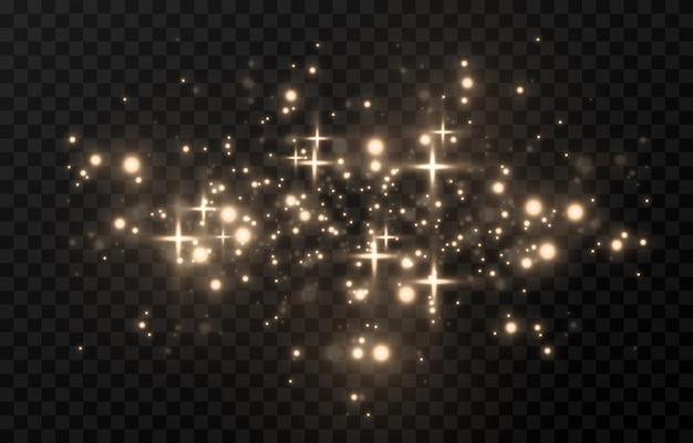 Lueur magique. lumière scintillante, étincelle scintillante poussière scintillante png. poussière magique scintillante. lumière de noël.