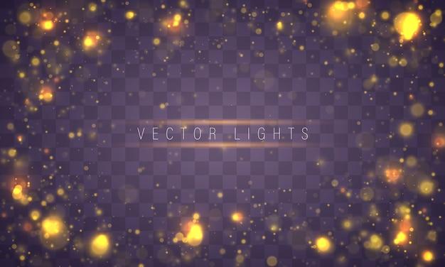 Lumière abstraite bokeh rougeoyante allume le concept de noël