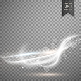 Lumière blanche transparente effet effet stérique fond