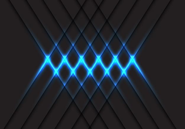 Lumière bleue abstraite croisée motif sur illustration vectorielle de conception gris technologie futuriste moderne