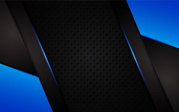Lumière bleue abstraite sur fond sombre