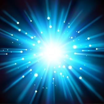 Lumière bleue éclairée par l'obscurité