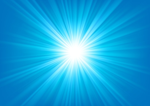 Lumière bleue qui brille sur fond clair