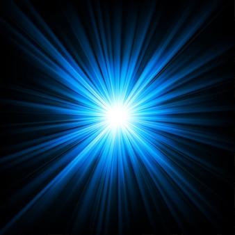 Lumière bleue qui brille sur fond de noirceur