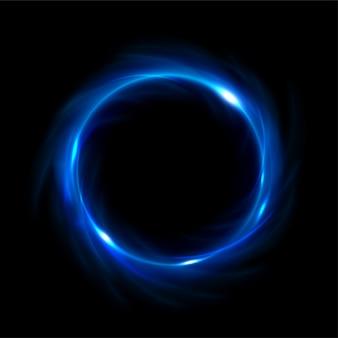 Lumière bleue ronde tordue