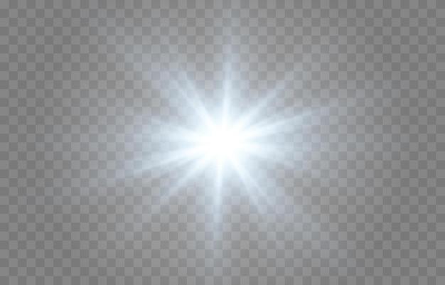 Lumière bleue. soleil, rayons de soleil