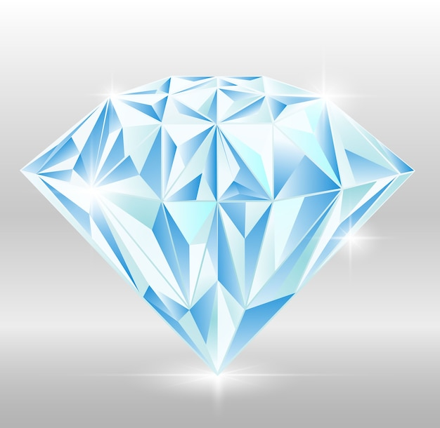 Lumière de conception de vecteur diamant gemme