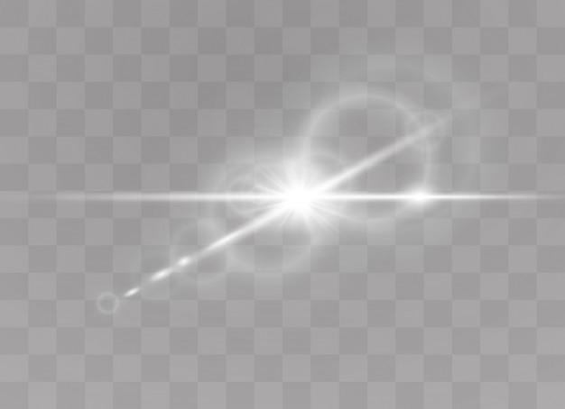 Lumière du soleil transparente effet spécial flash flash.