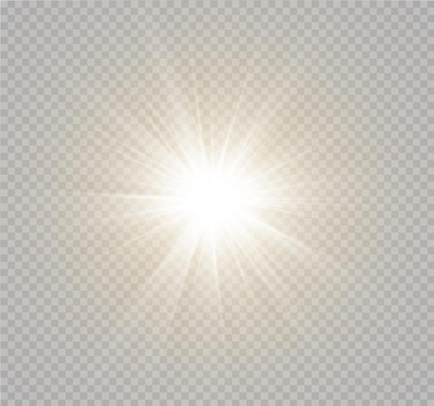 Lumière du soleil transparente lentille spéciale effet de lumière flash lentille solaire avant flou du flash à la lumière de l'éclat