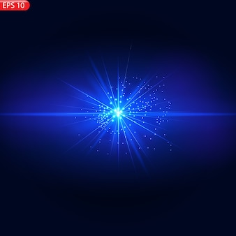 Lumière du soleil transparente lentille spéciale flash effet de lumière avant flash de lentille solaire.