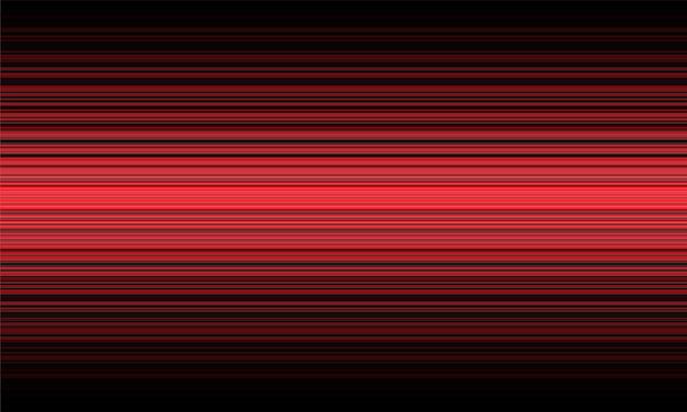 Lumière dynamique de vitesse de ligne rouge abstraite sur fond de technologie noire