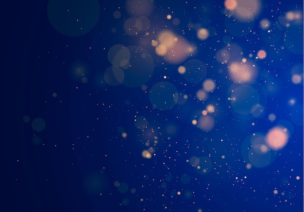 Lumière floue bokeh. abstrait paillettes défocalisé étoiles clignotantes et étincelles.
