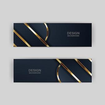 Lumière de fond de paillettes avec la couleur abstraite technologie moderne bannière or