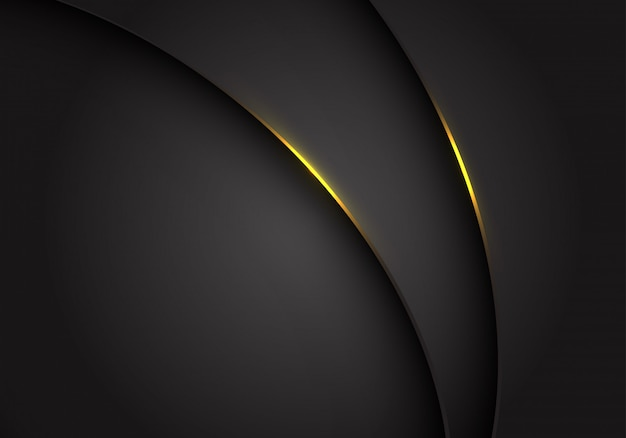 La lumière jaune sur la courbe métallique gris gris foncé chevauchent l'arrière-plan.