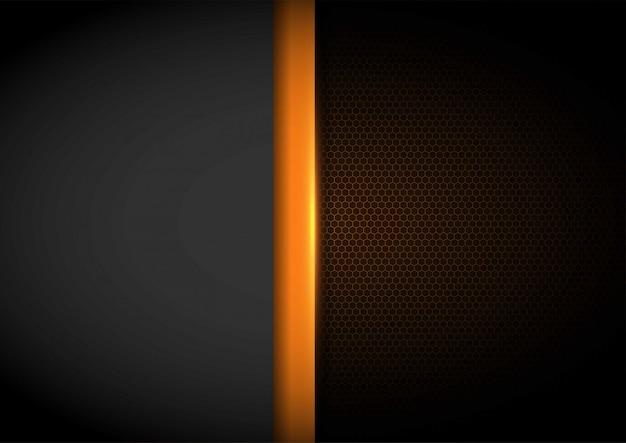 Lumière jaune avec fond de maille ondulée, modèle de disposition de la couverture
