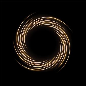 Lumière jaune ronde tordue