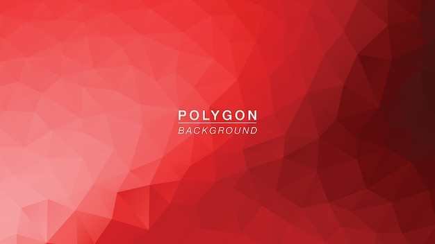 Lumière rouge polygone