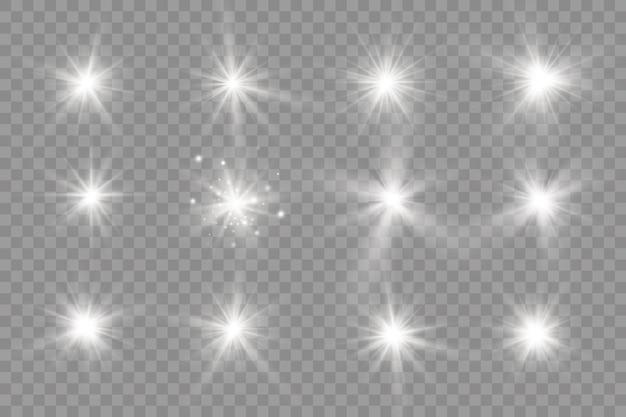 Lumière rougeoyante blanche. bright star brillant soleil