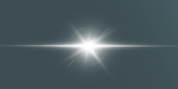 Lumière rougeoyante blanche. bright star, soleil brillant