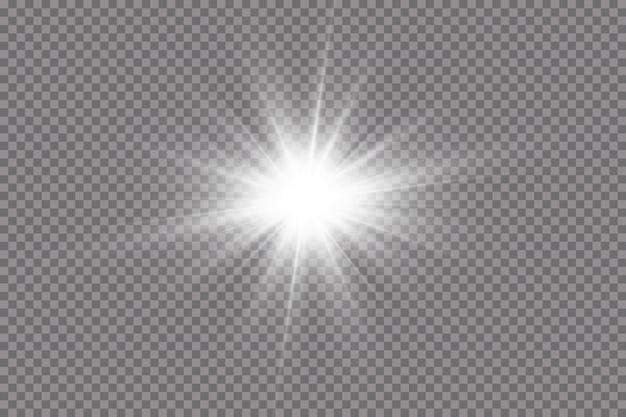 Une lumière rougeoyante blanche explose sur un fond transparent.