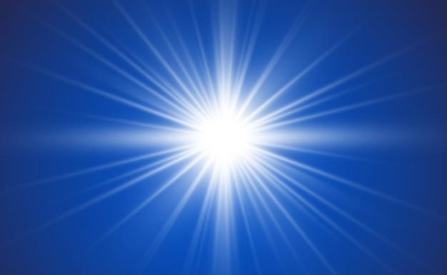 Lumière rougeoyante blanche avec des rayons