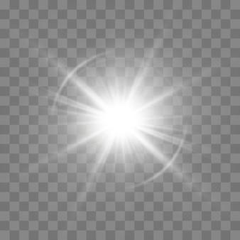 Lumière rougeoyante blanche