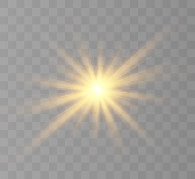 Lumière rougeoyante jaune
