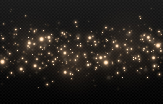 Lumière scintillante, scintillement scintillant poussière scintillante. poussière magique étincelante.