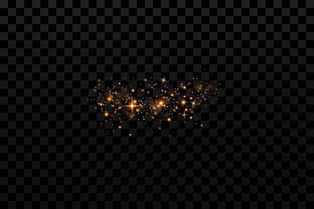Lumière de vecteur avec éclat étoilé effet magique fond d'effets de lumière