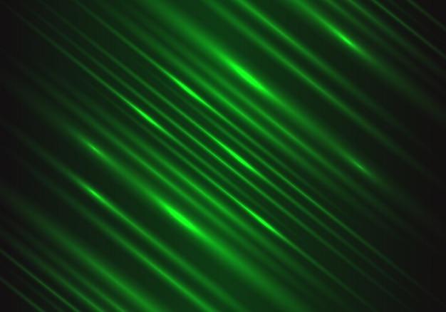 Lumière verte vitesse puissance technologie énergie fond.