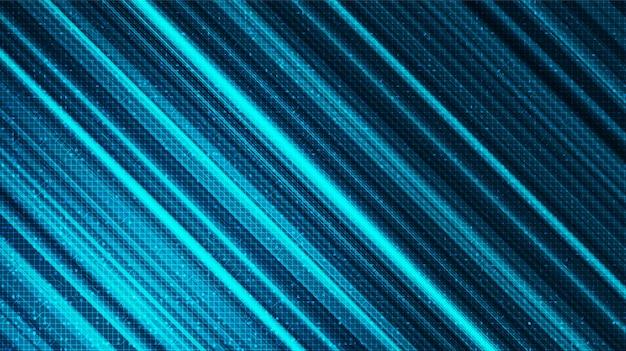 Lumière de vitesse abstraite sur fond de technologie