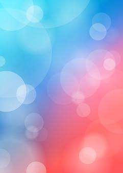 Lumières abstraites sur bleu floue