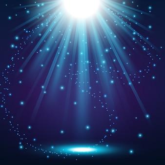 Lumières bleues fond brillant