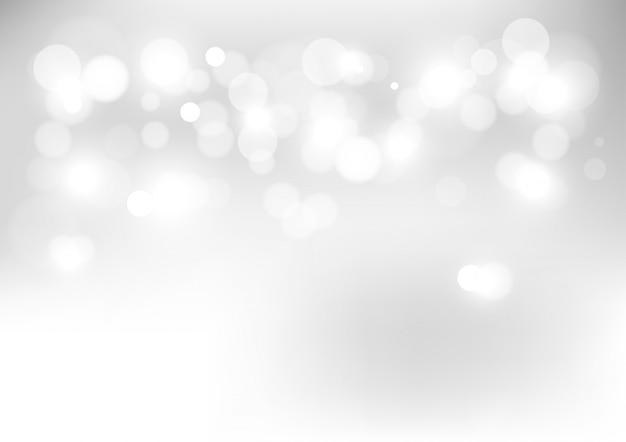 Lumières de bokeh abstraites avec fond clair et doux.
