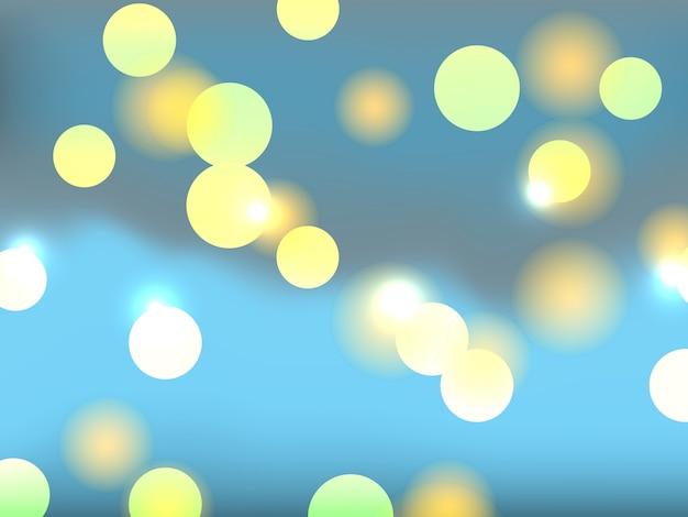 Lumières bokeh colorées.