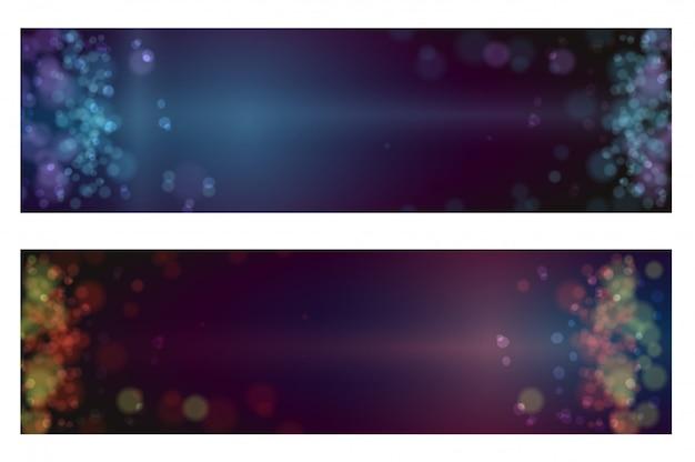 Lumières de bokeh fond défocalisé de noël
