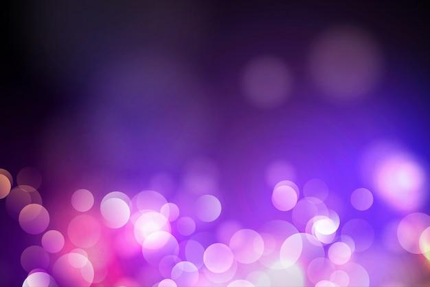 Lumières de bokeh et fond de paillettes