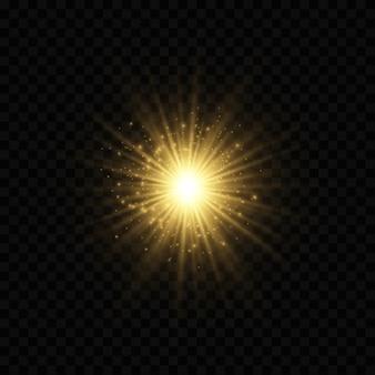 Lumières de bokeh lumineux abstraites légères. effet de lumières bokeh isolé sur fond transparent.